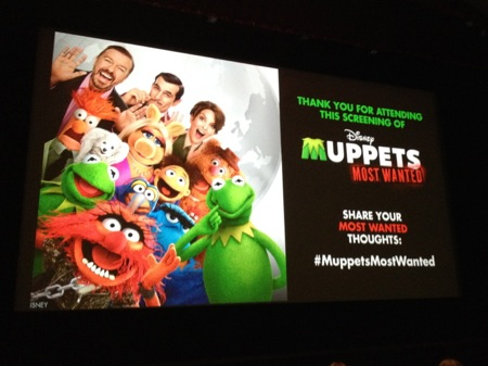 Muppets Most Wanted pre screening