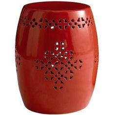 Ceramic outdoor stool