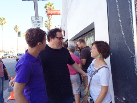 Lucy-Jon-Darby-chatting-up-Jon-Favreau