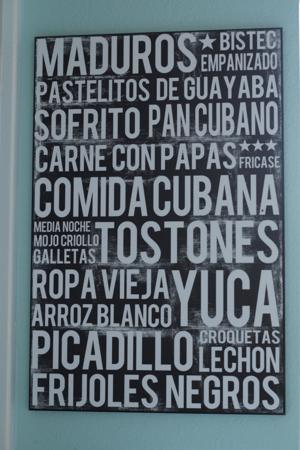 Cuban Poster - Comida Cubana Subway Art 16 x 20