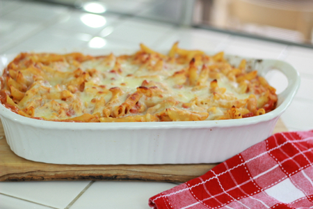Chicken-and-pasta-bake-dish