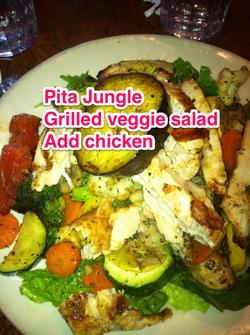 Pita jungle salad