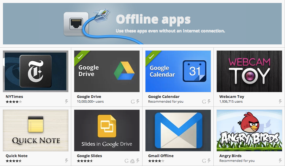 Chrome Web Store - Offline Apps