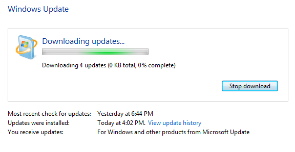 Hold on! Downloading updates...