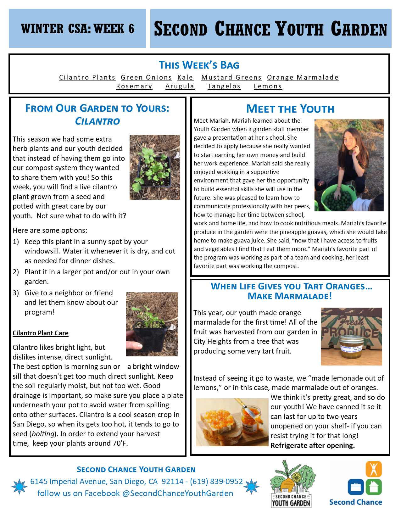 Youth Garden Newsletters Second Chance Employment Reentry