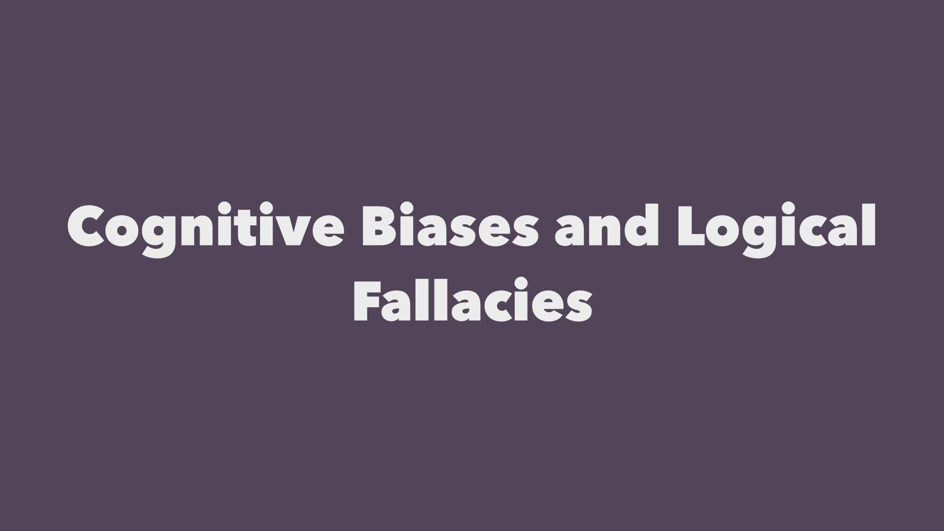 And logical fallacies...