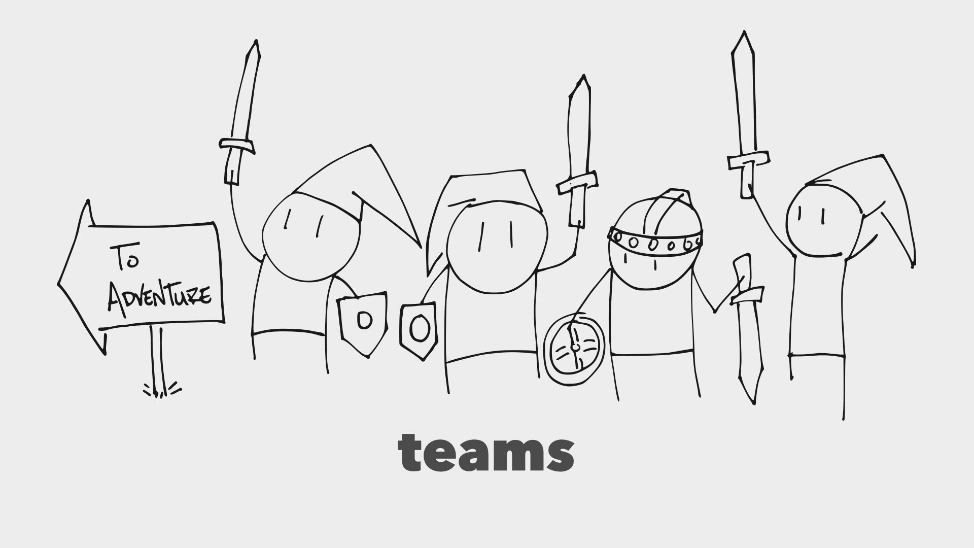 Teams! Huzzah!