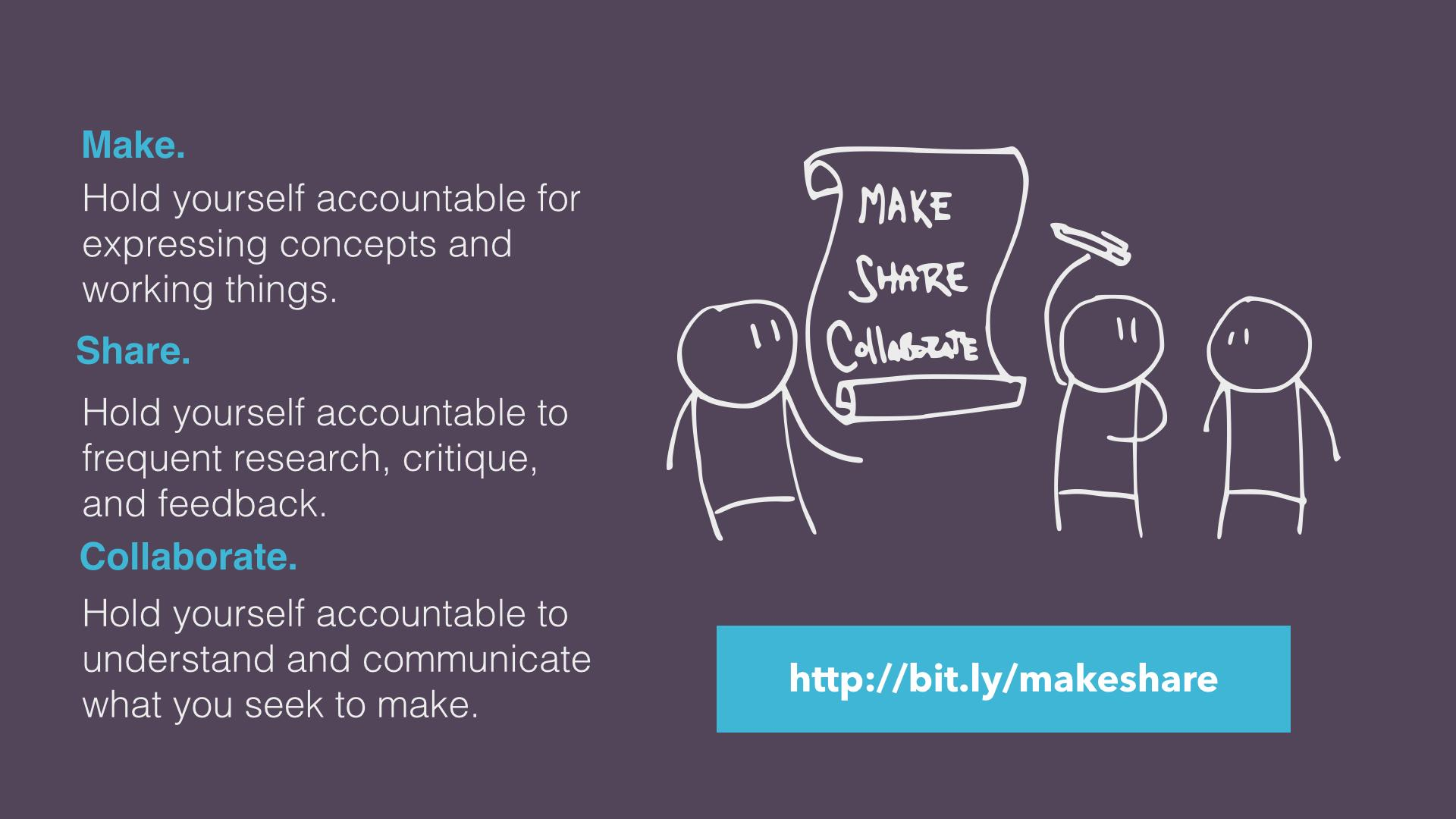 Make Share Collaborate Manifesto