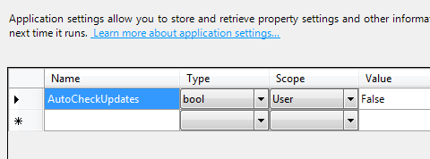 example of settings gui
