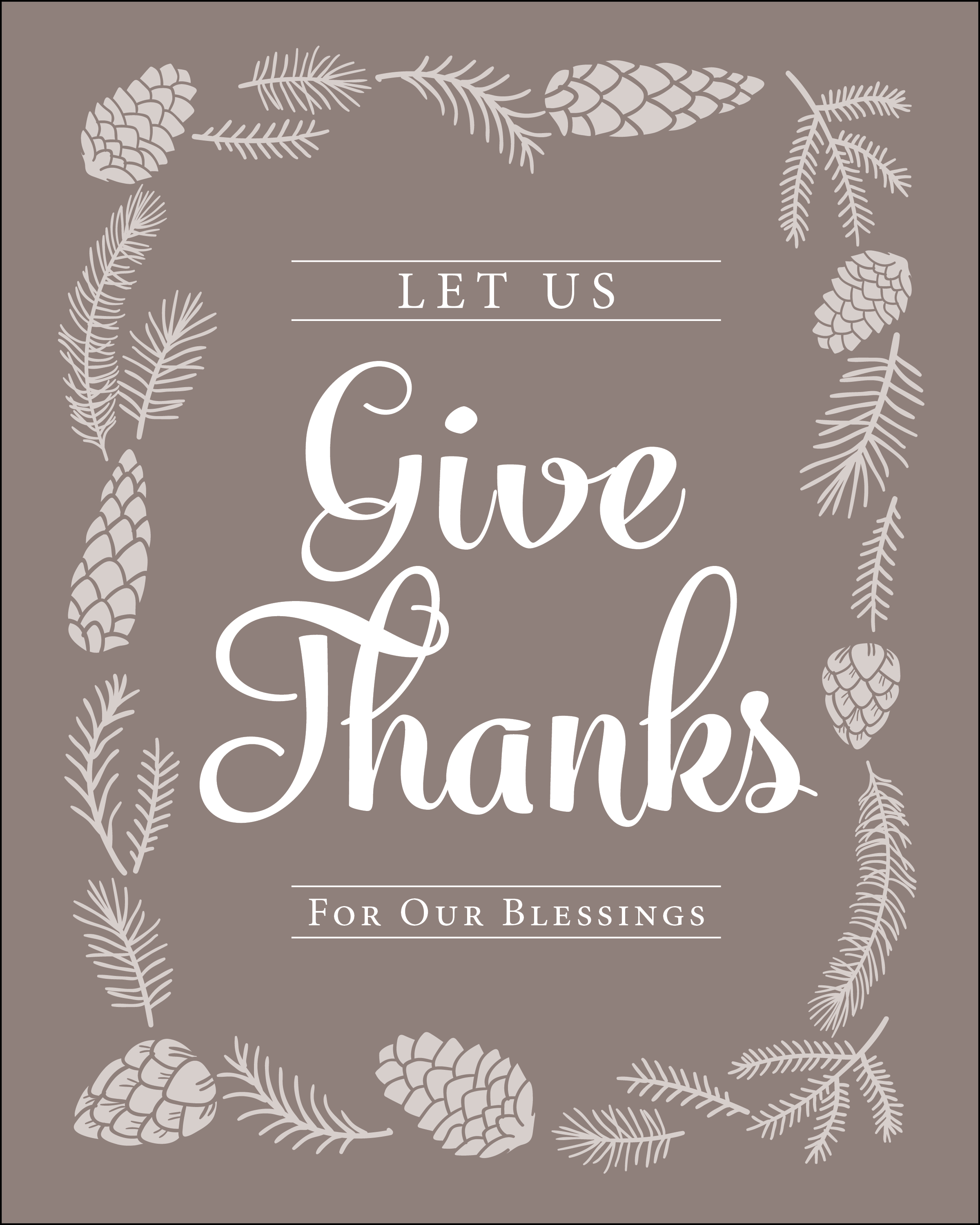 photograph relating to Give Thanks Printable titled Offer Because of Totally free Printable Beautiful Ink