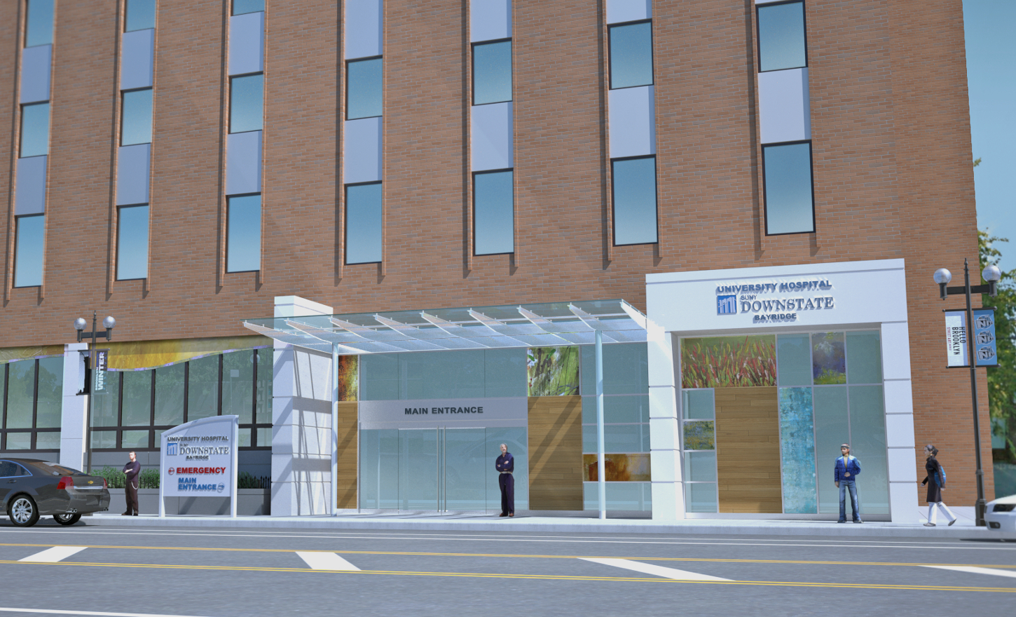 SUNY Downstate Medical Center at Bay Ridge Hospital New Entrance
