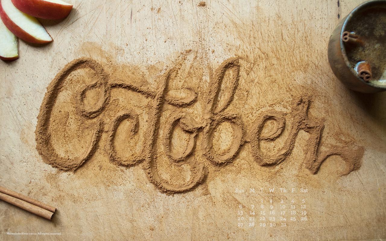October Food Type Desktop Phone Wallpaper