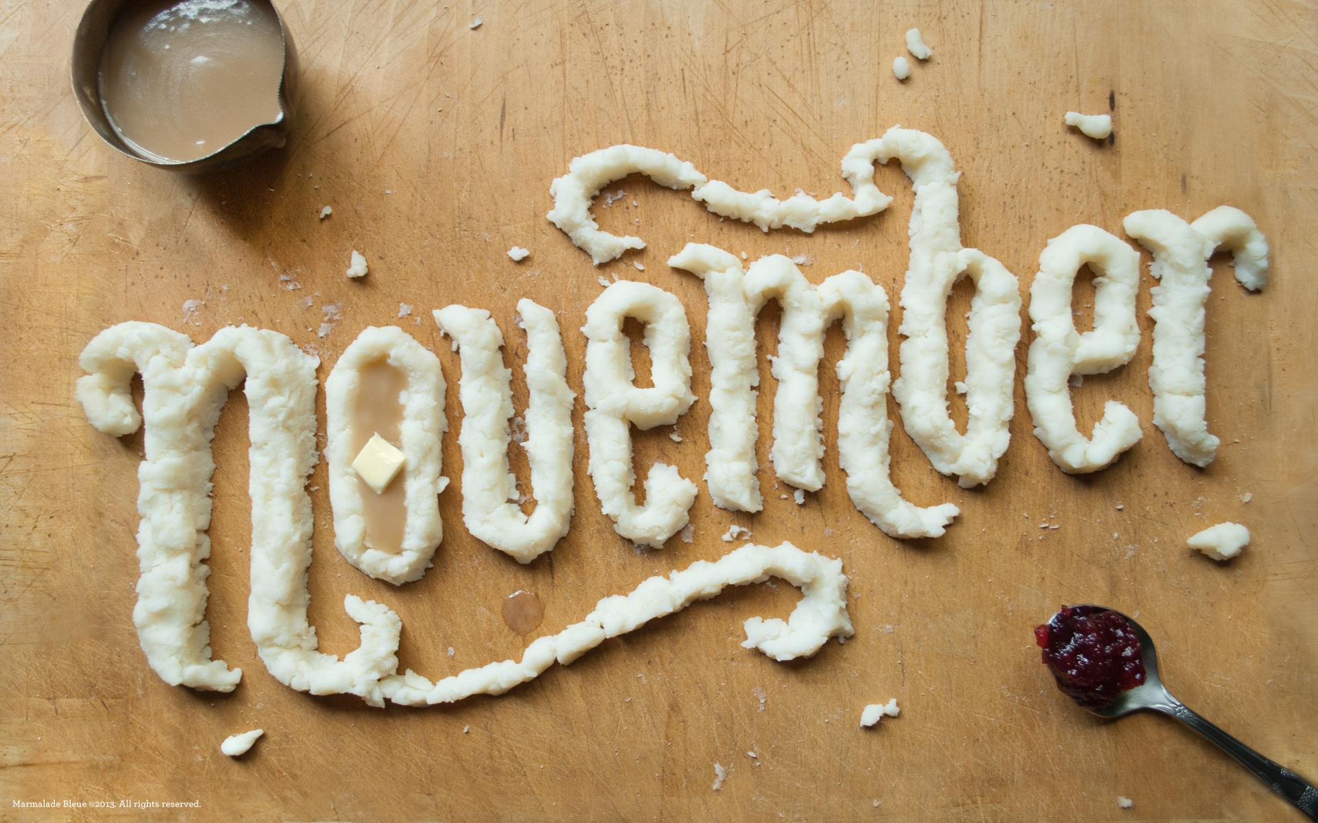 November Food Type Desktop Phone Wallpaper Marmalade Bleue
