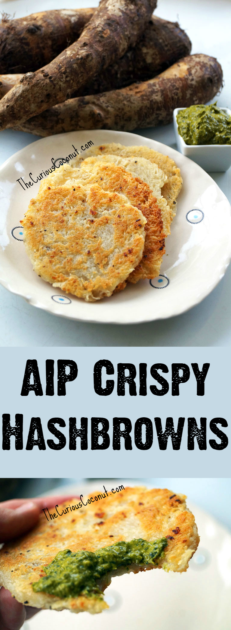 AIP Crispy Hashbrowns - no potatoes, no problem! Easy, nightshade-free, delicious, allergy-friendly // TheCuriousCoconut.com