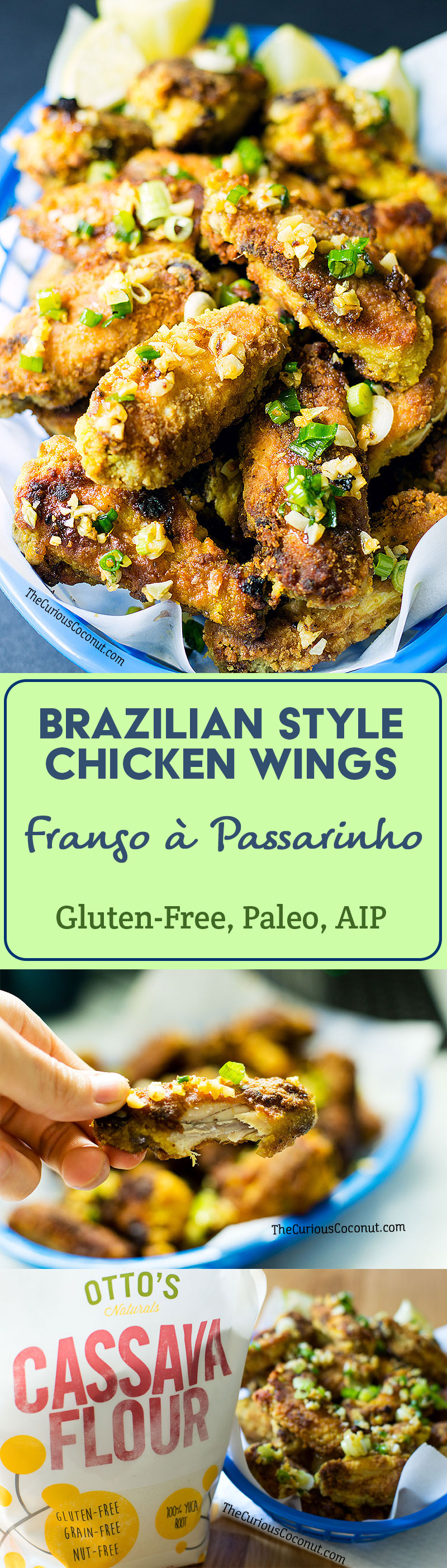 Brazilian Style Chicken Wings with Crispy Garlic - Frango a Passarinho (Paleo, Gluten-Free, AIP option) // TheCuriousCoconut.com