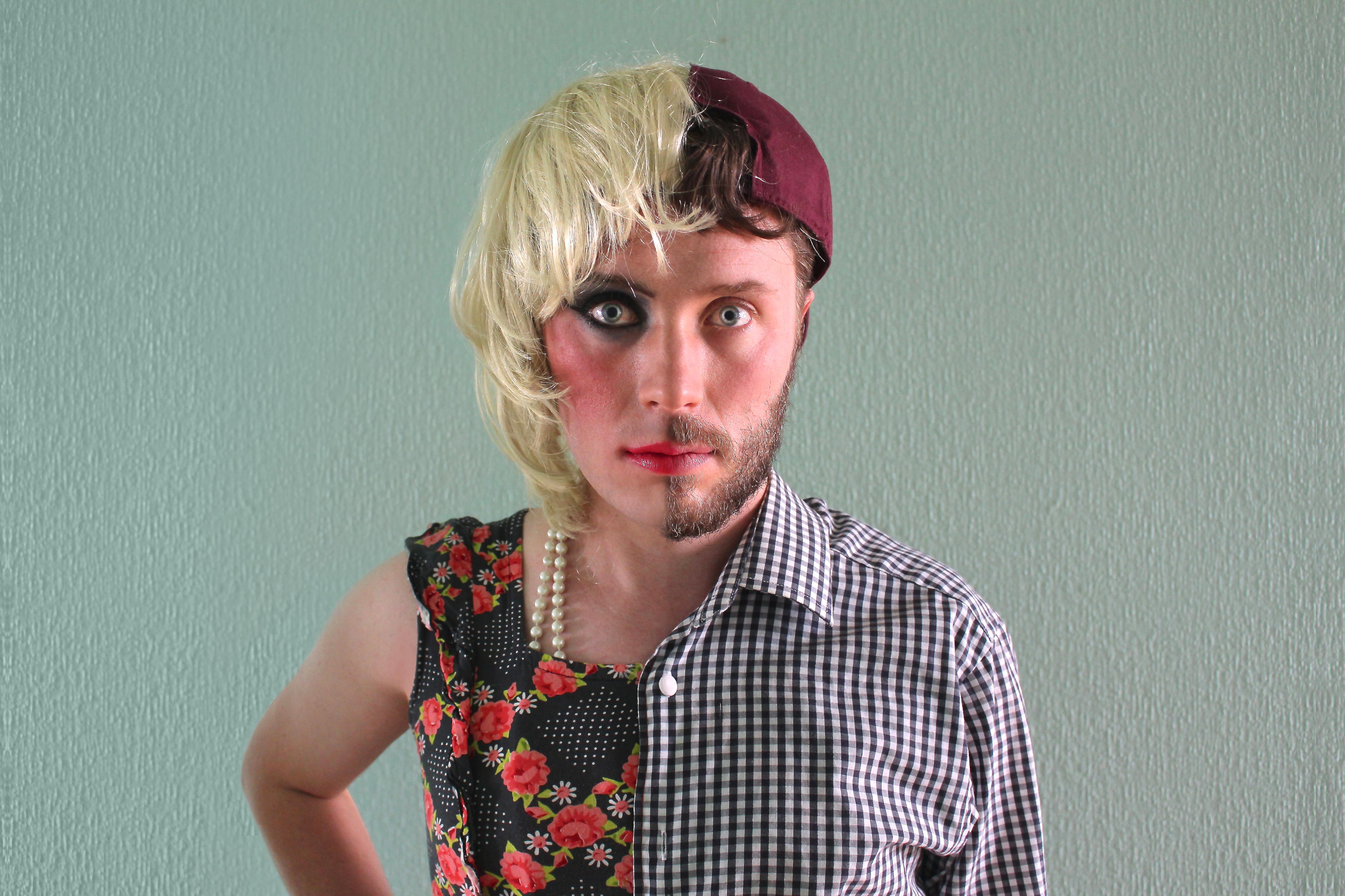 Half Man, Half Woman Hallowe'en Costume - David Galletly ... - photo#14