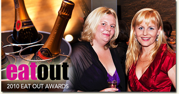 paula mackenzie and jackie cameron at the 2010 eat out awards