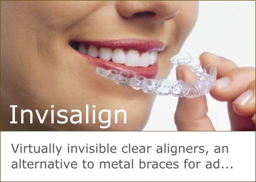 Invisalign offers invisible clear aligners as an alternative to metal braces.
