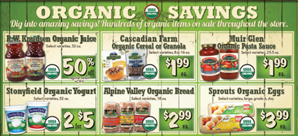 Sprouts Organic Savings