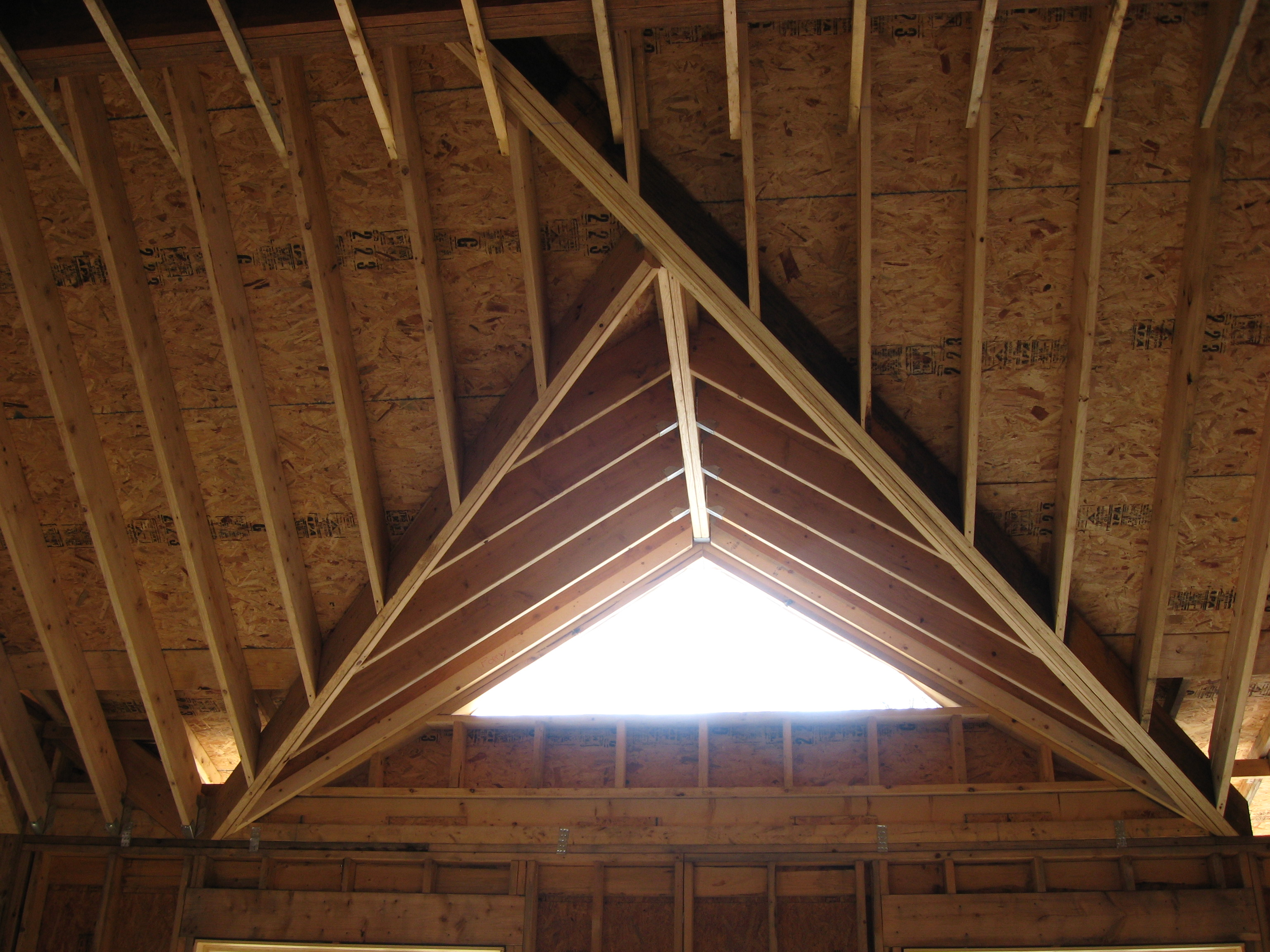 Faq 39 s fine line home design llc for Cathedral ceiling trusses