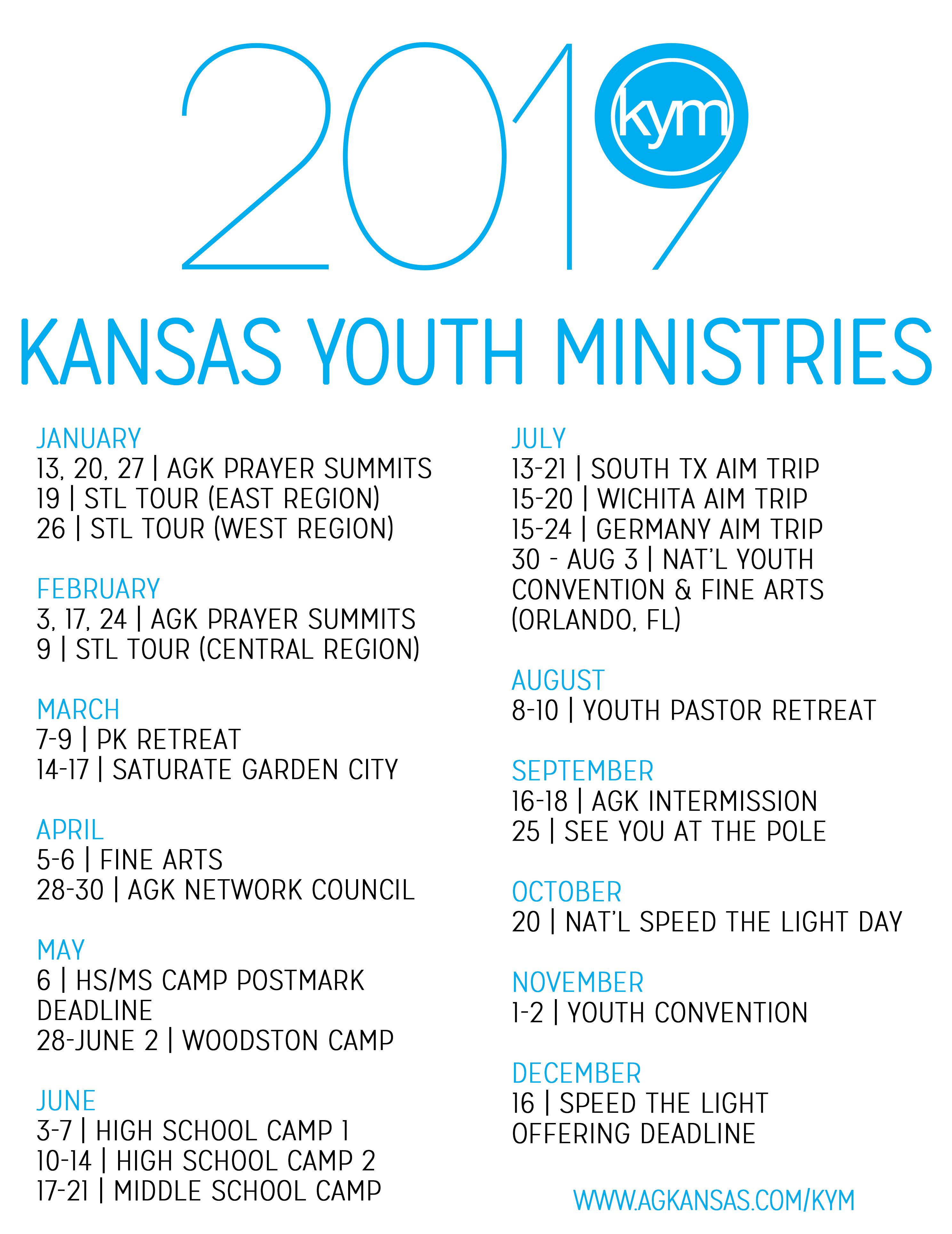 KYM Calendar — AGK Ministry Network