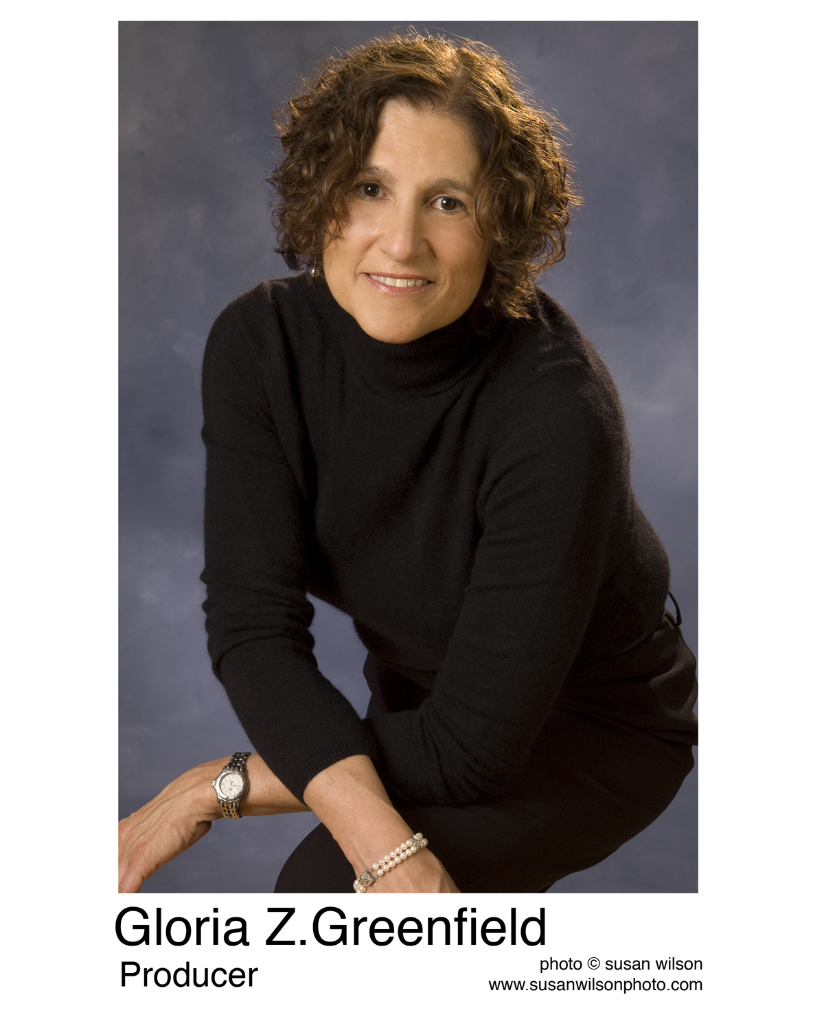 Click photo to download. Caption: Producer and Director Gloria Z. Greenfield. Credit: Doc Emet Productions.