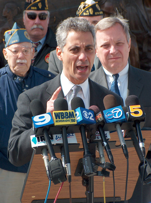 Click photo to download. Caption: Rahm Emanuel Elected Mayor of Chicago (February 22nd, 2011).