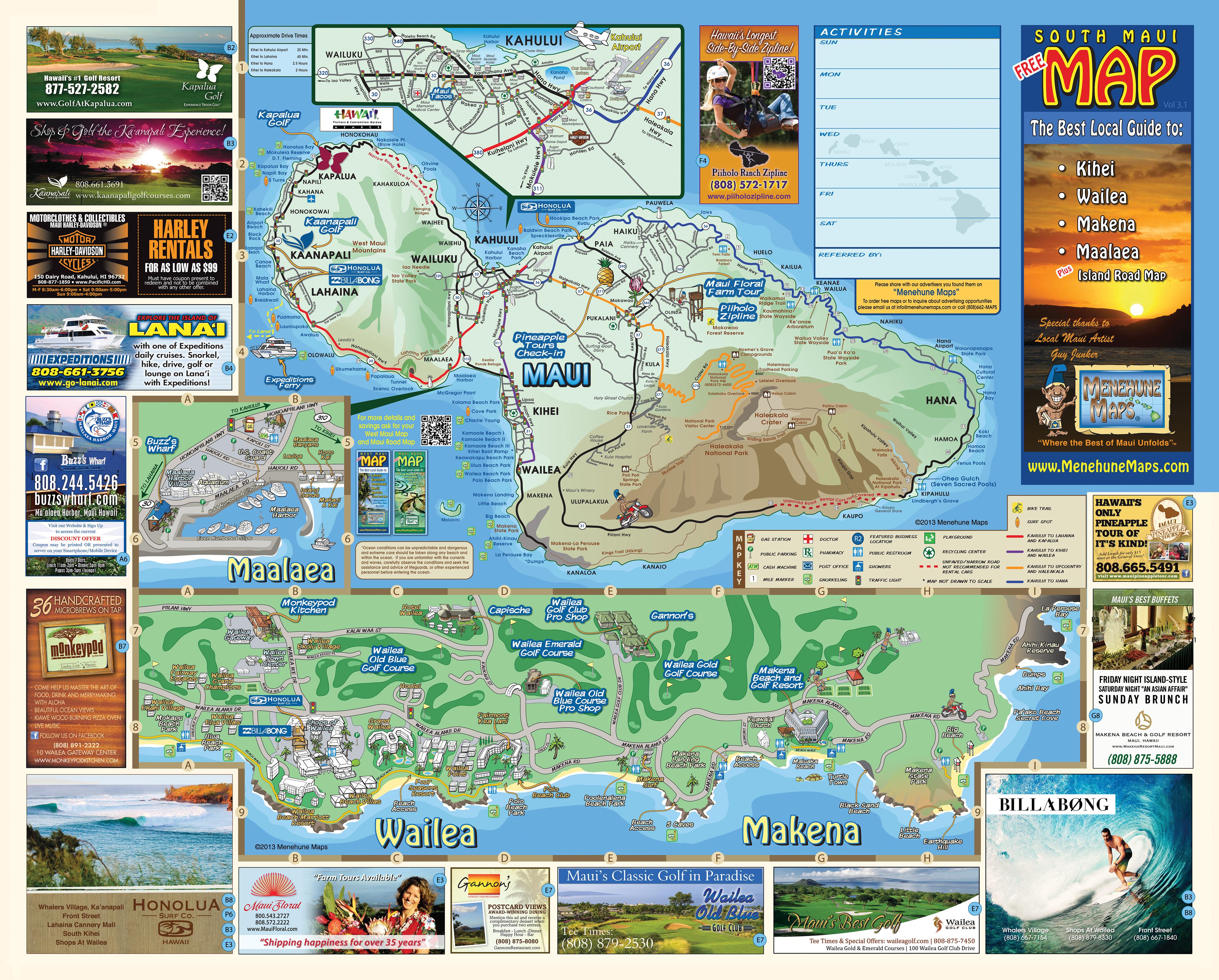 South Maui Grinds Menehune Maps