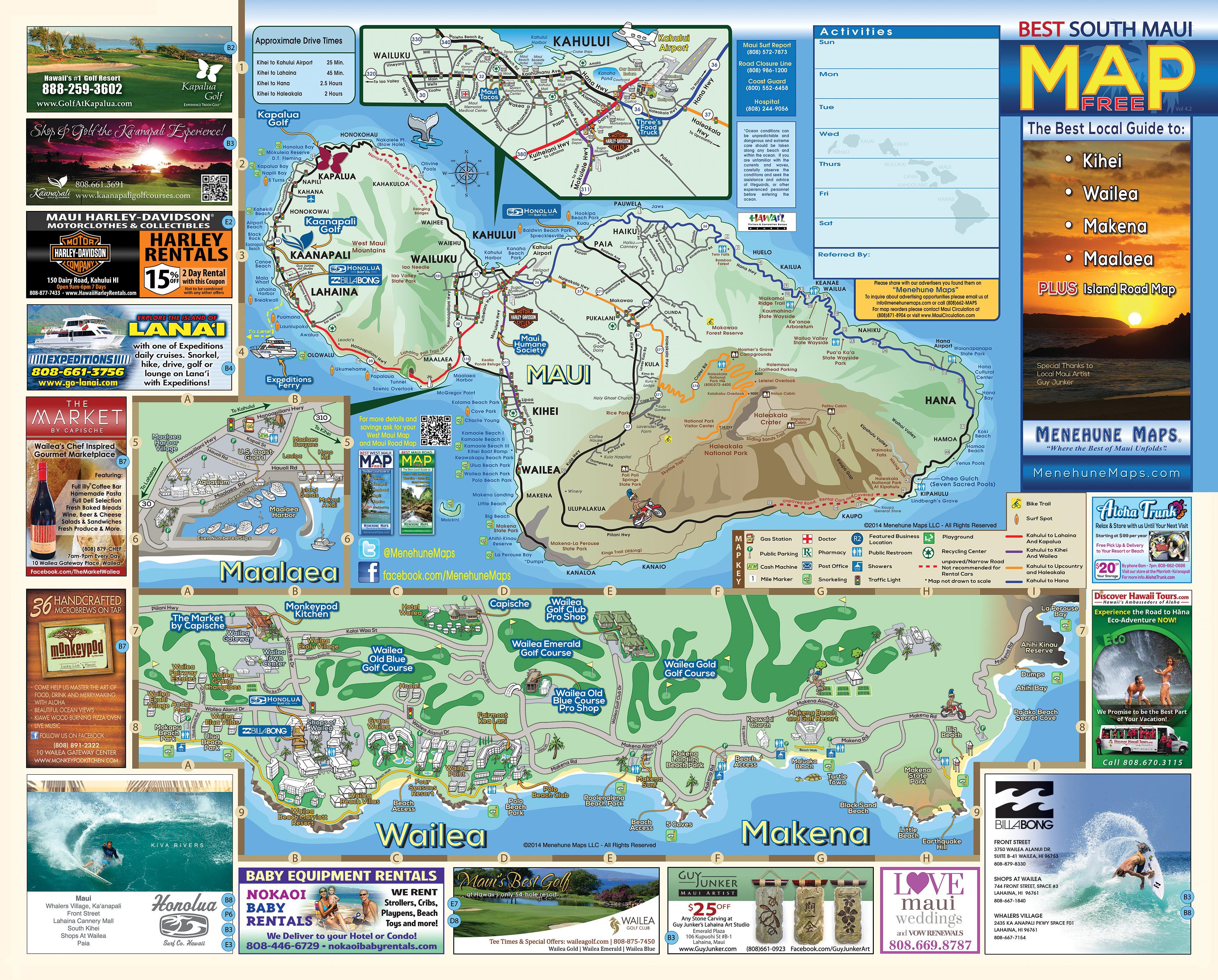 Piiholo Zipline Makawao Maui Menehune Maps – Maui Tourist Map