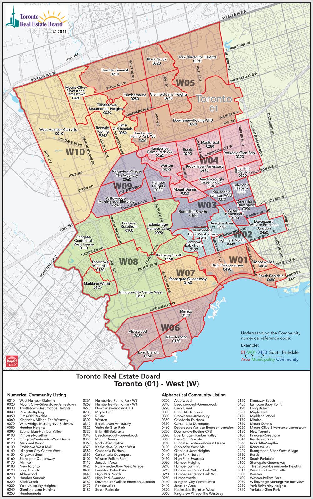 Mls Toronto Map Toronto MLS District Codes   Map   HireConrad.com