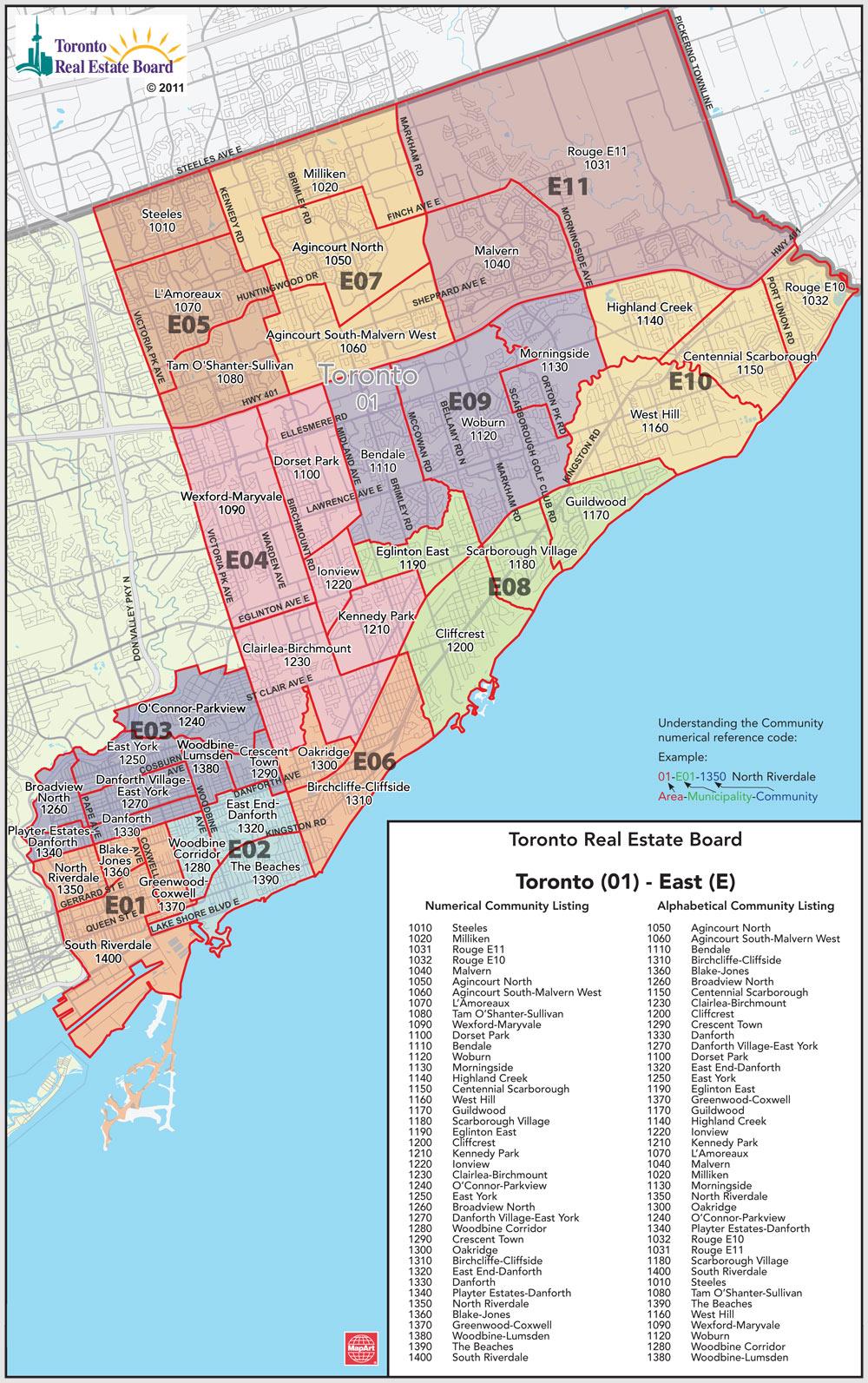 Toronto Mls District Codes Map Hireconrad Com