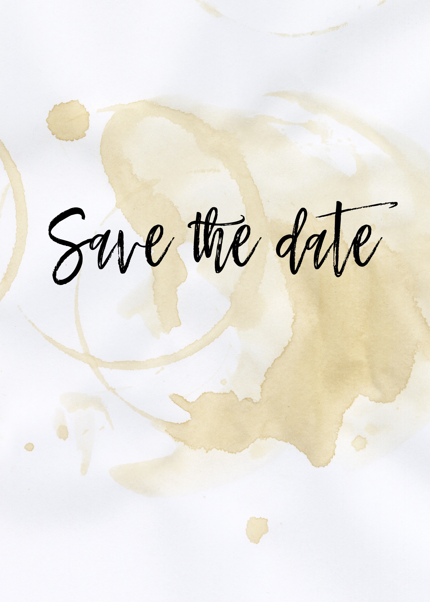 The Perfect Blend Save the Date Card Free Wedding Invitation – Save the Date Template