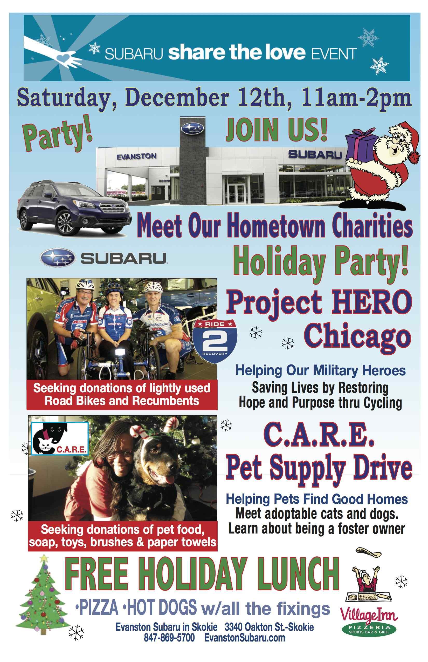 Subaru Share the Love Adoption and Food Drive Event — C A R E ™