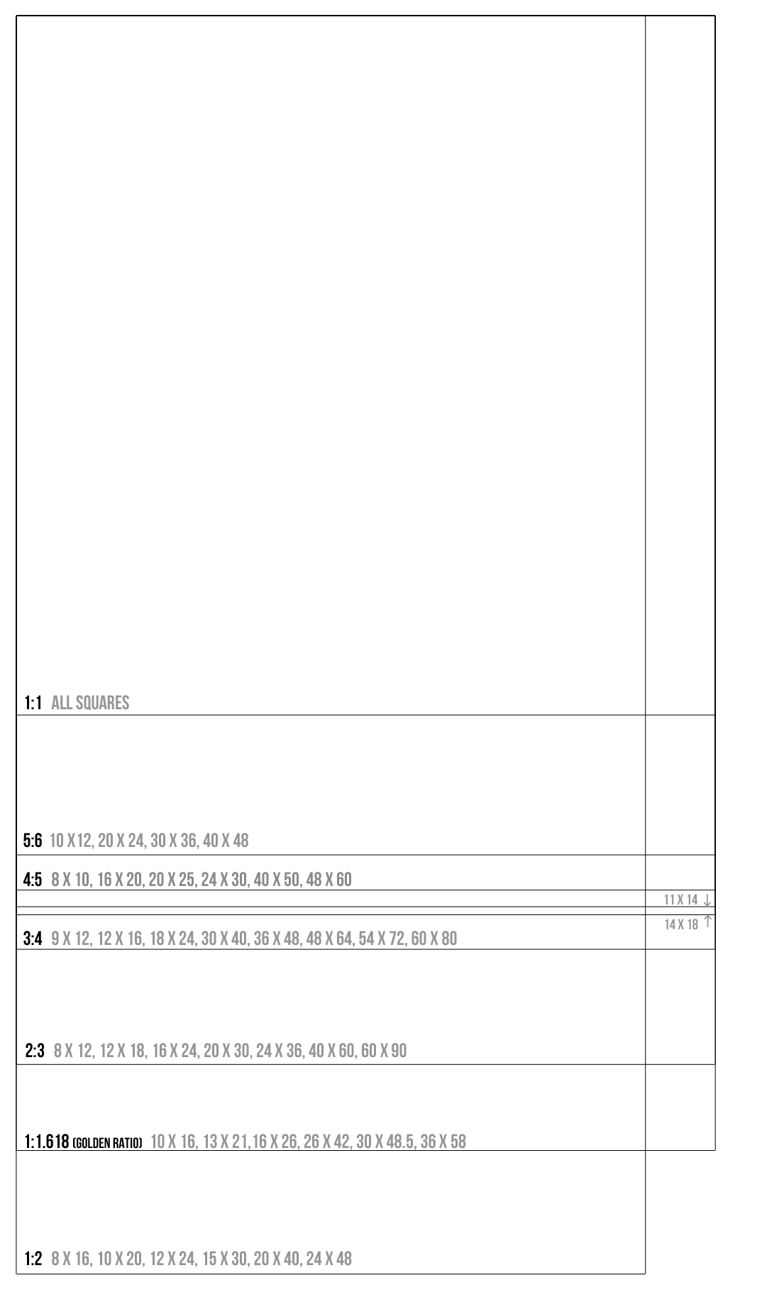 For the Sketchbook A Printable Guide with Common Aspect Ratios – Printable T Chart