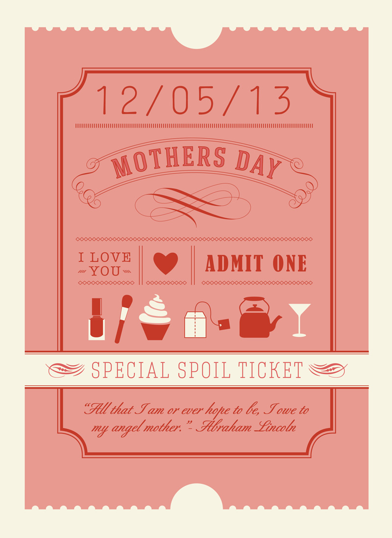 Mothers Day {A Special Spoil Ticket} — Elephantshoe blog
