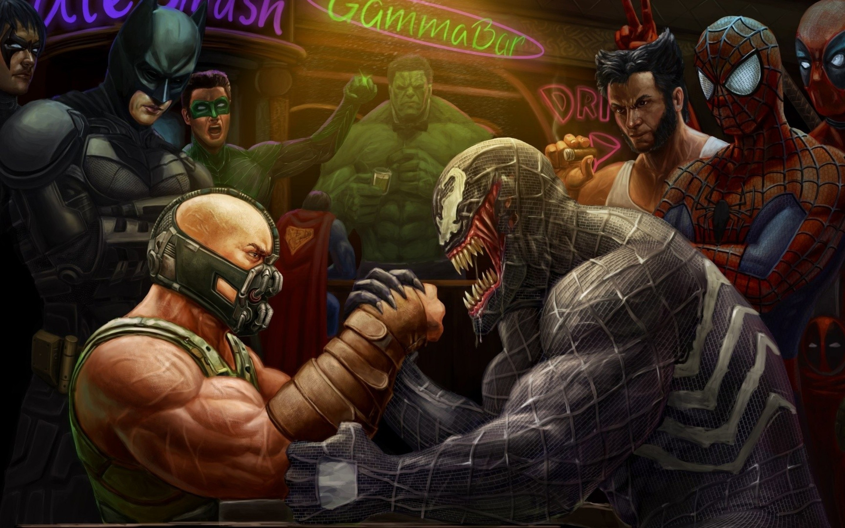 Bane vs. Venom by Andy Timm — GeekTyrant