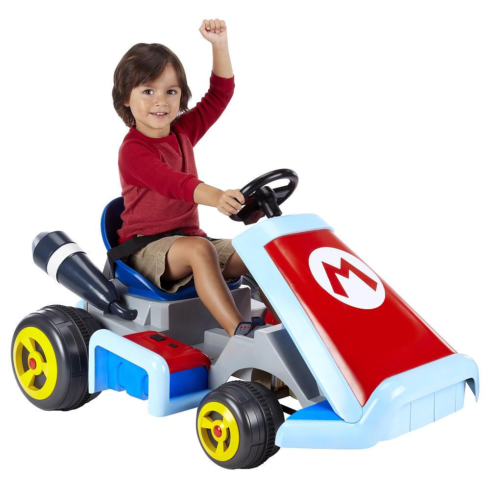 super mario kart ride on vehicle geektyrant. Black Bedroom Furniture Sets. Home Design Ideas