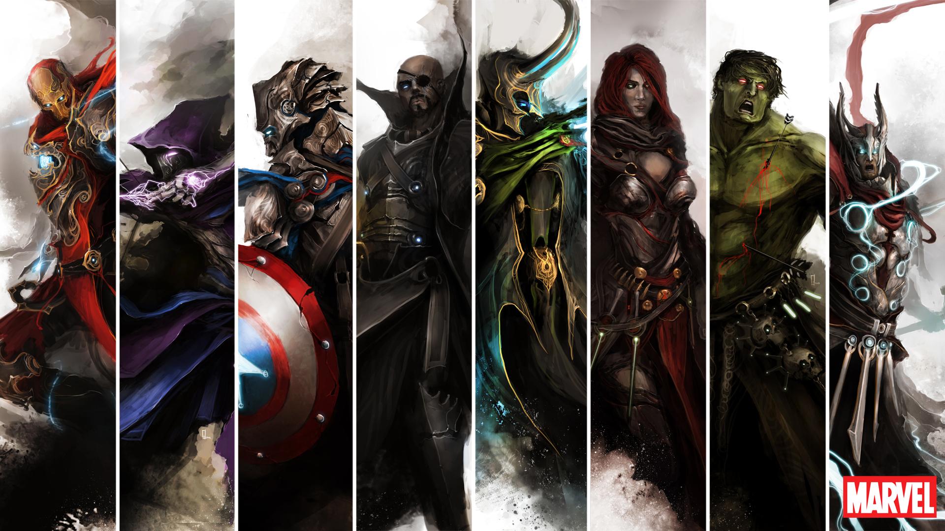 The Avengers As Medieval Fantasy Warriors Geektyrant