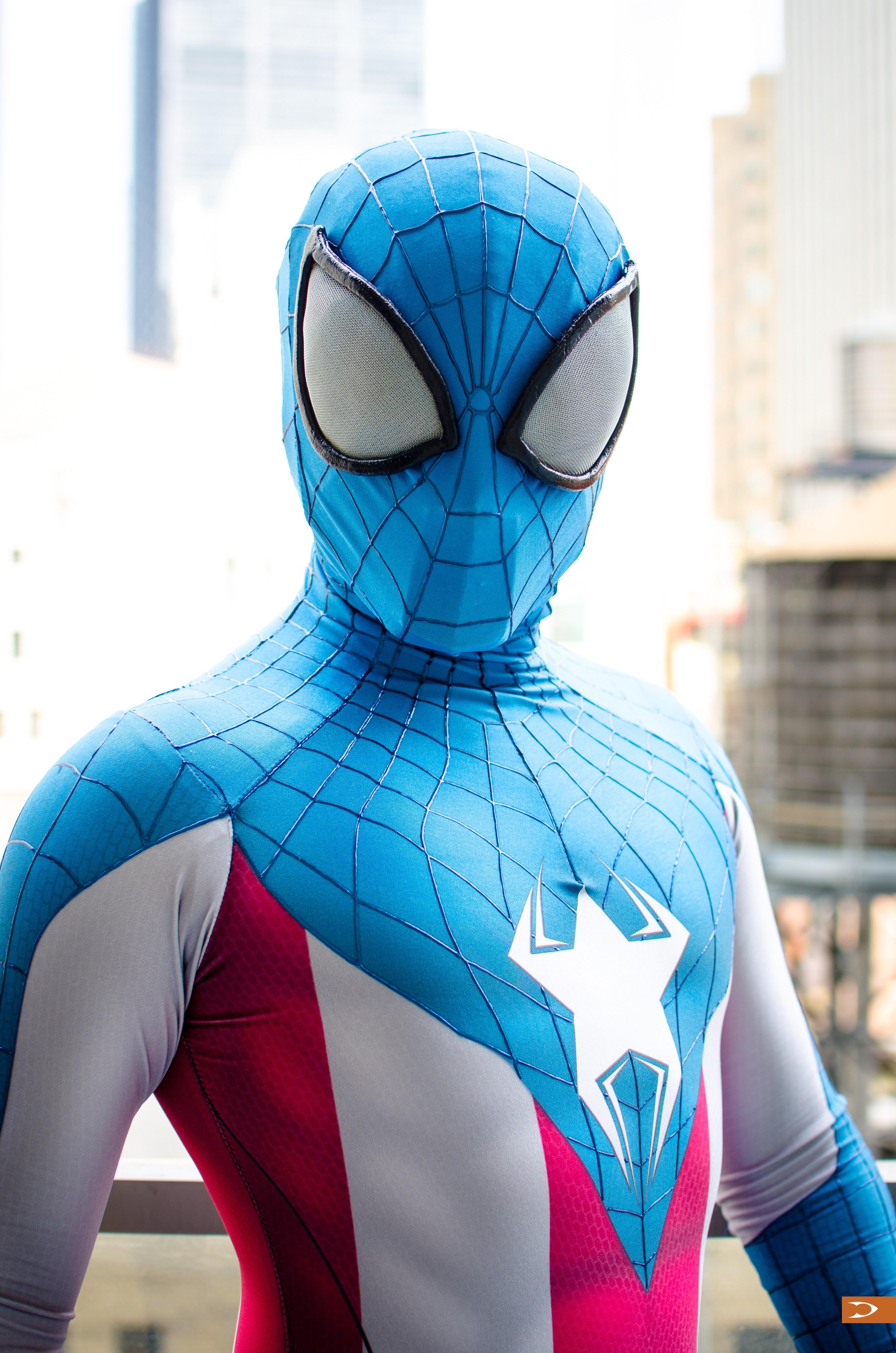 Captain america spiderman cosplay