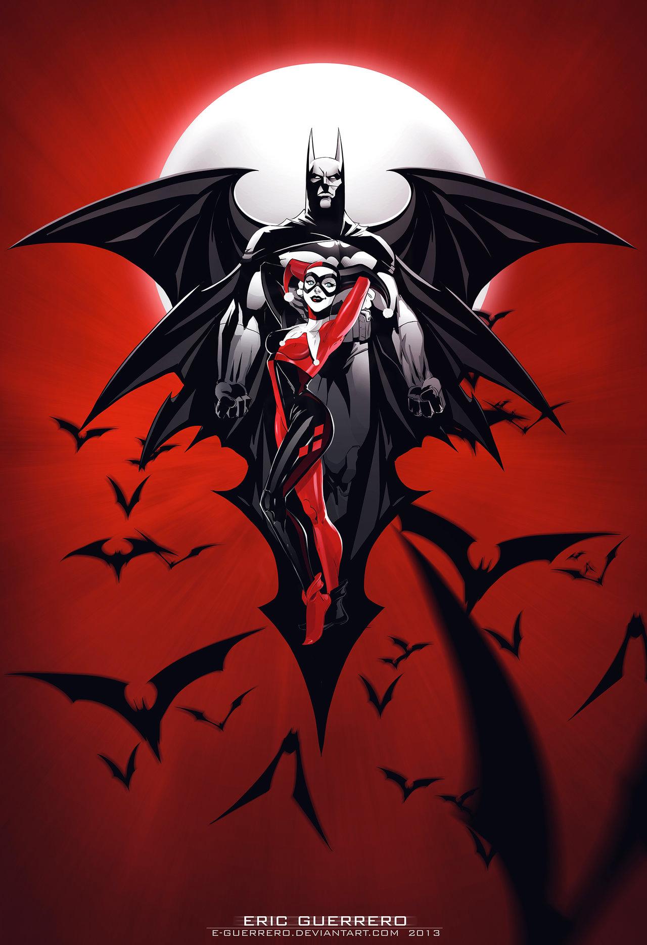 Harley Quinn and Batman Poster — GeekTyrant