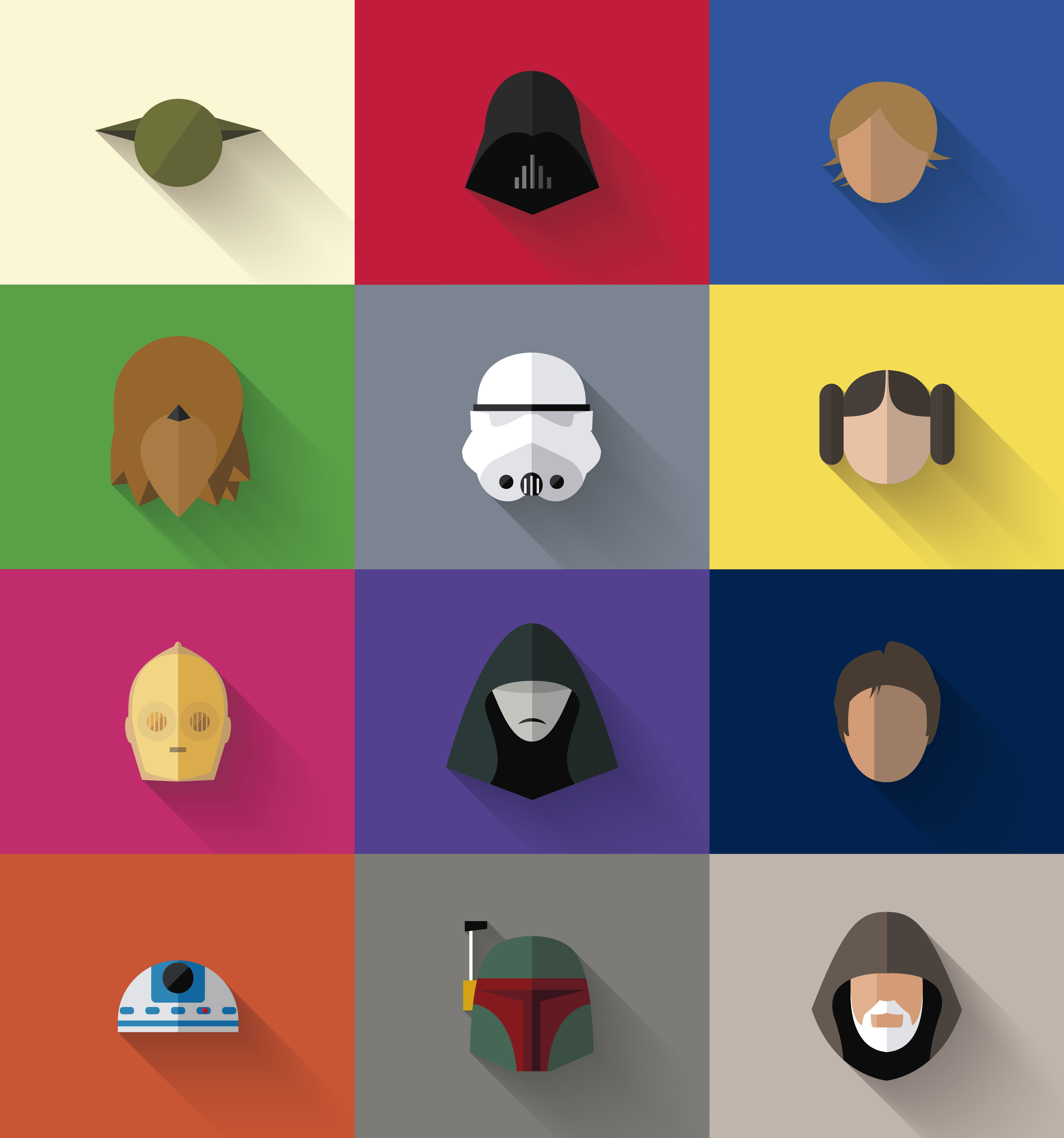 Character Design Icon : Star wars quot flat character icons — geektyrant