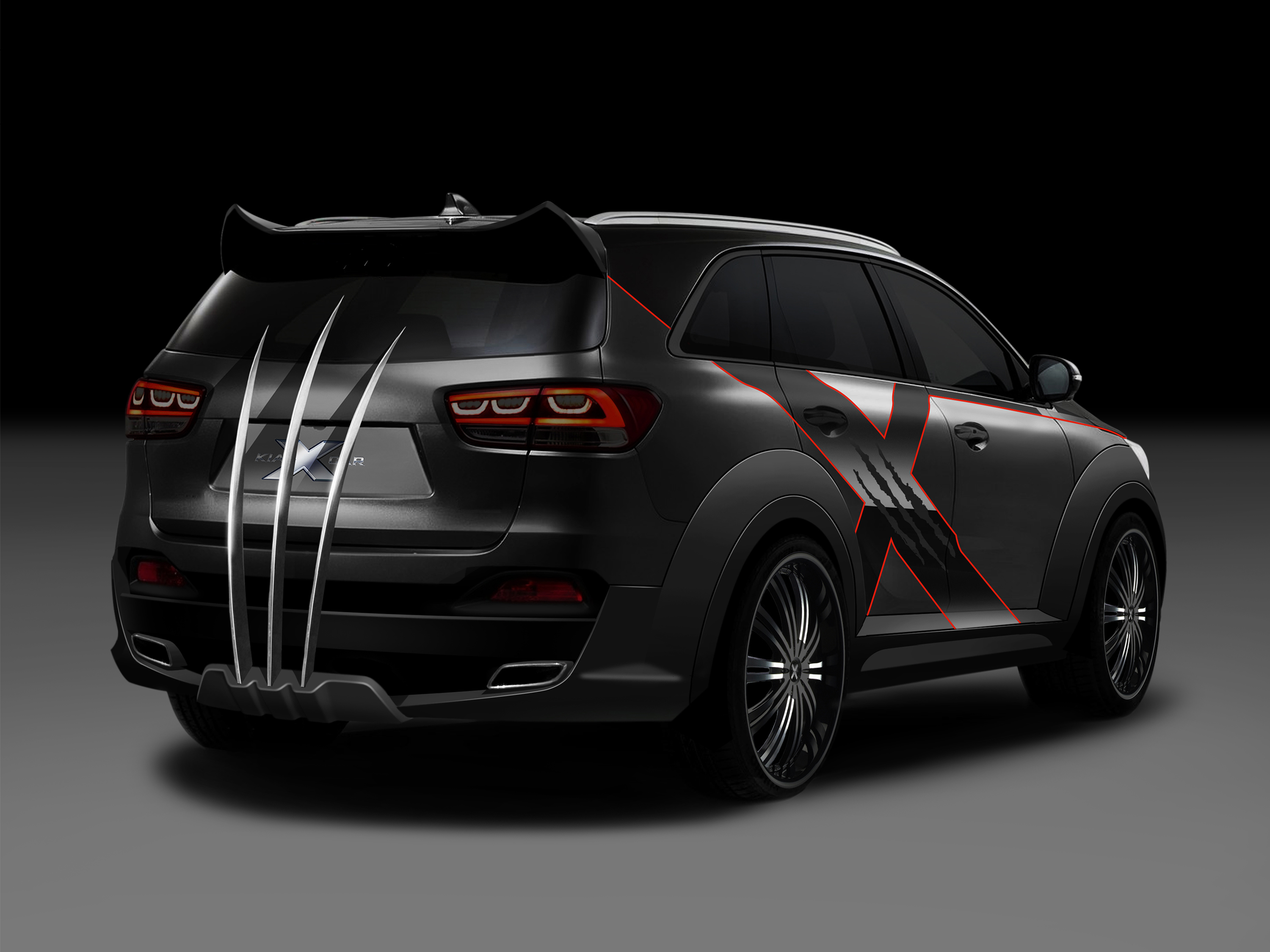 check out kia s wolverine car geektyrant. Black Bedroom Furniture Sets. Home Design Ideas