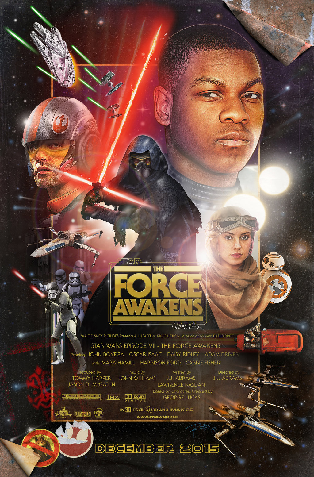 star wars the force awakens new fan made posters geektyrant