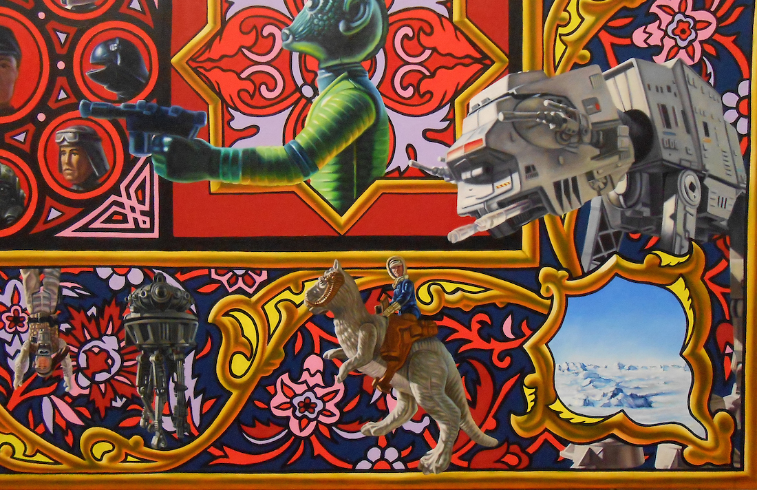 Incredibly detailed star wars toy tribute took 2 000 hours for Mural star wars