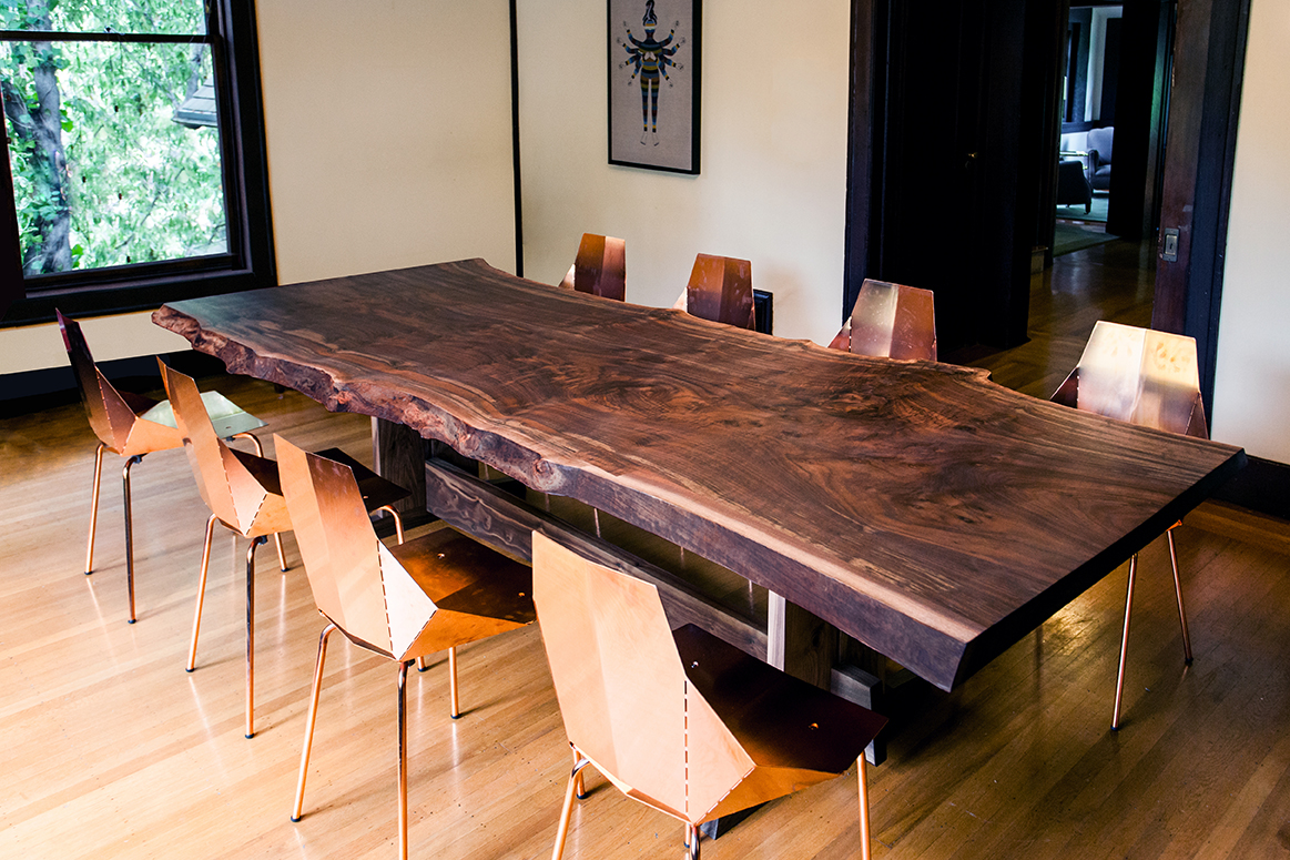 Live edge piedmont dining table taylor donsker design for Custom made furniture san francisco