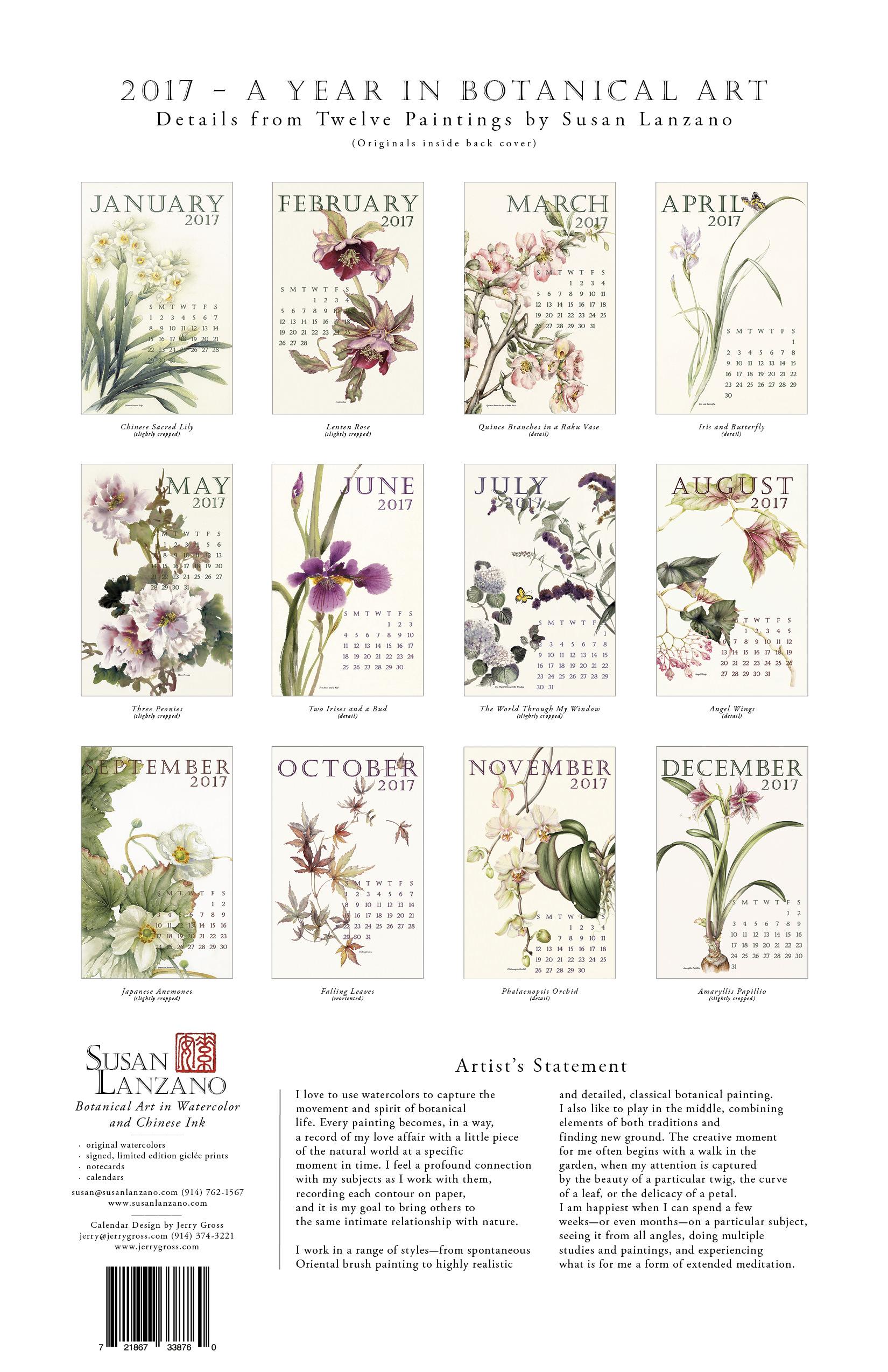 Calendar Susan Lanzano