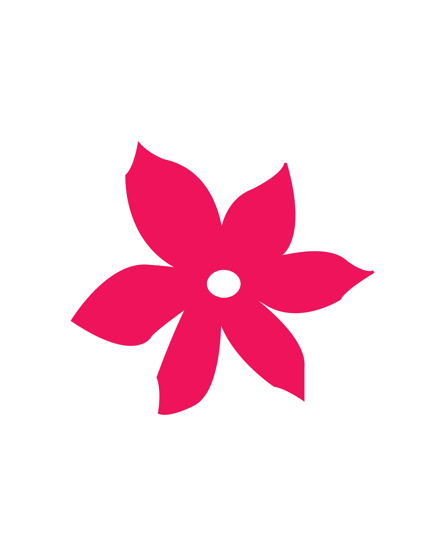 Pink Flower Canvas Design