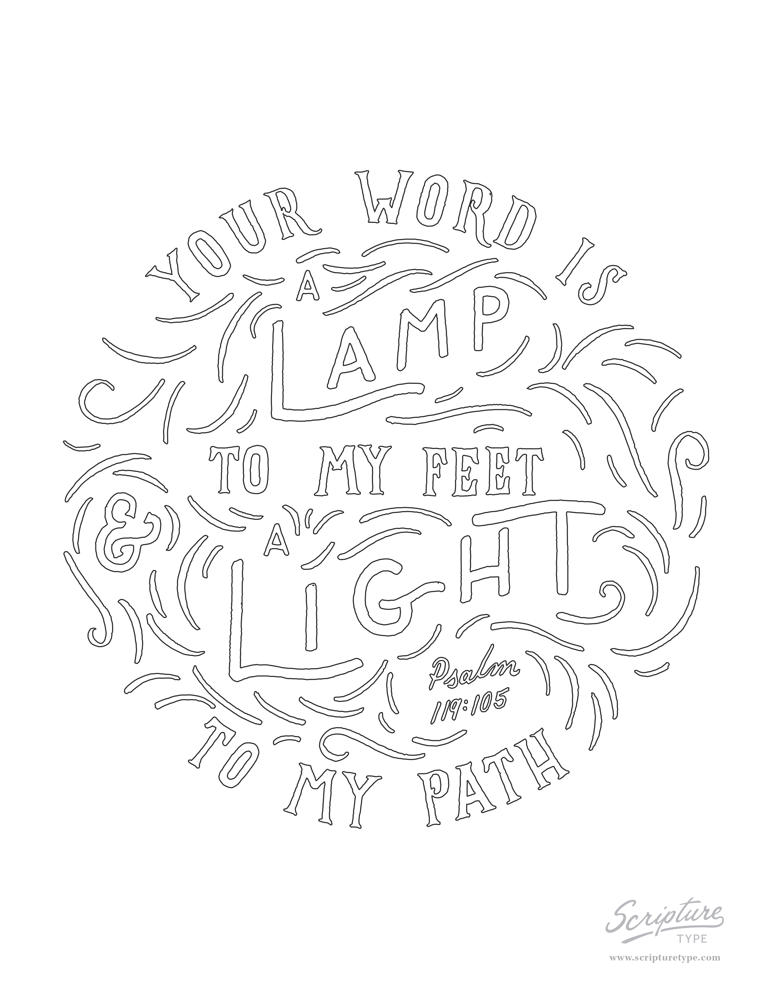 psalm 119 105 coloring pages - photo#6