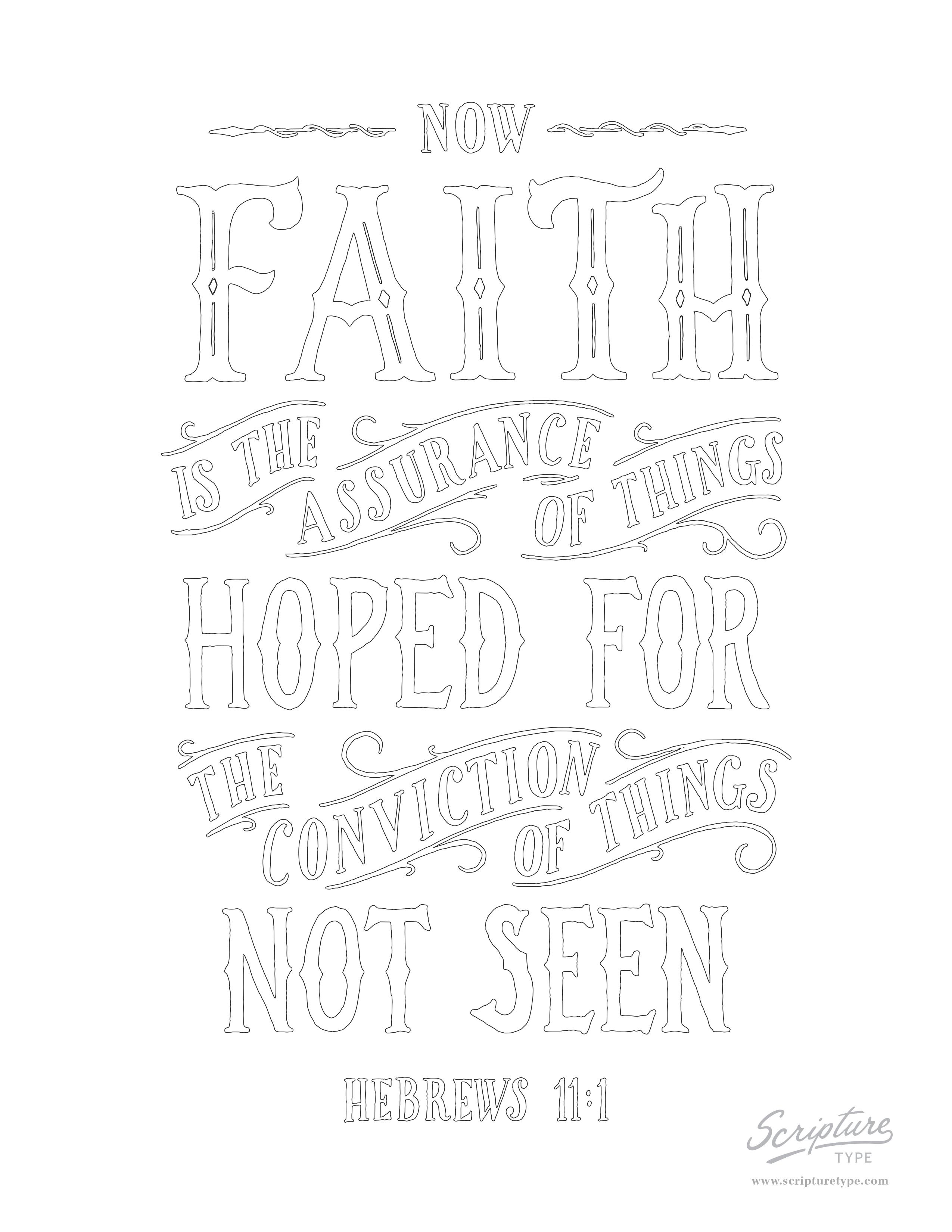 Hebrews 11:1 — Scripture Type