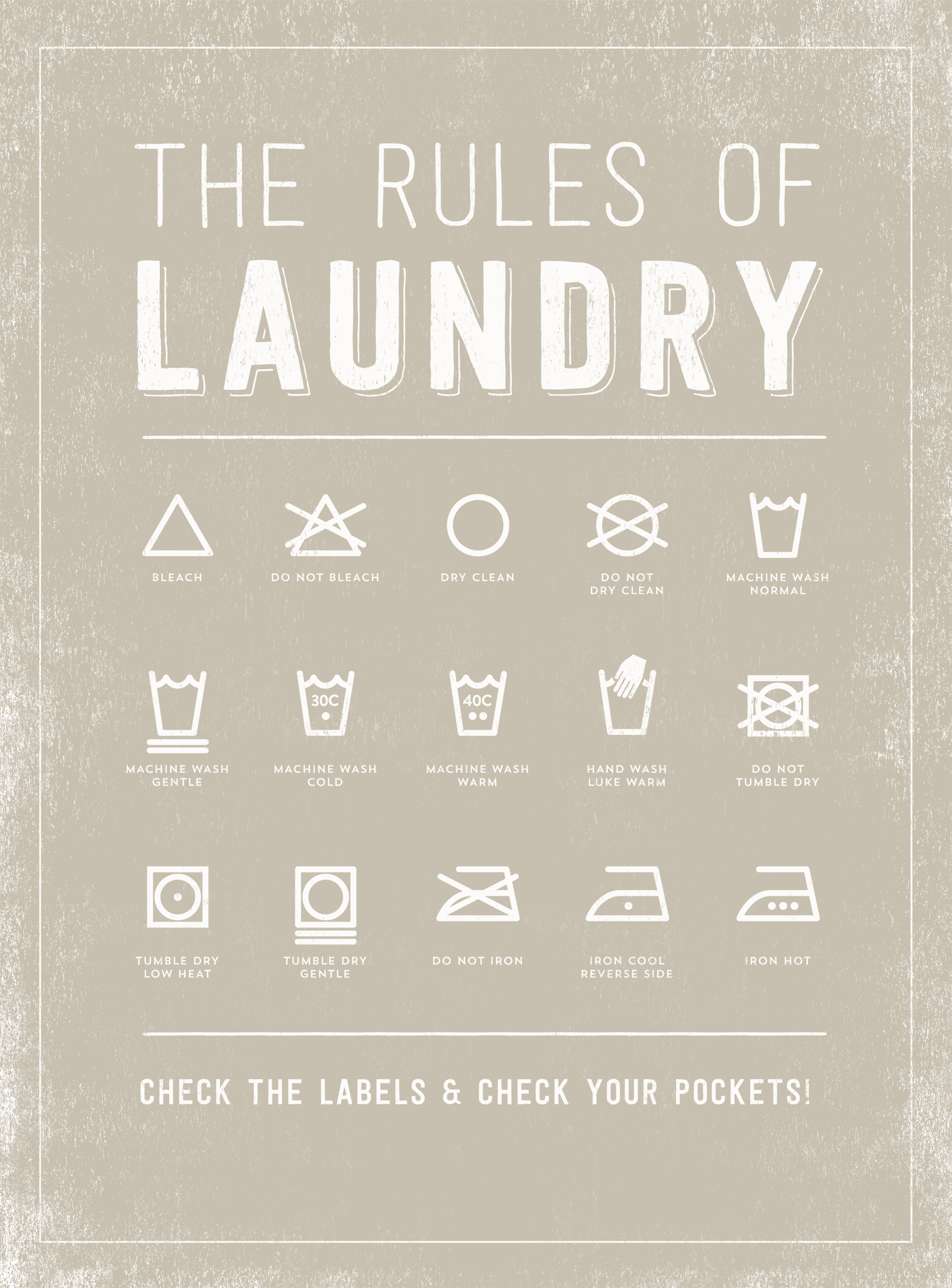 Laundry room rules wall plate design ideas for Room design rules